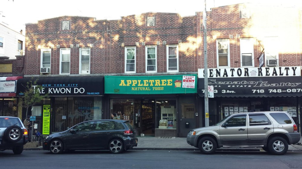 Appletree Natural Foods, a health food store in Bay Ridge