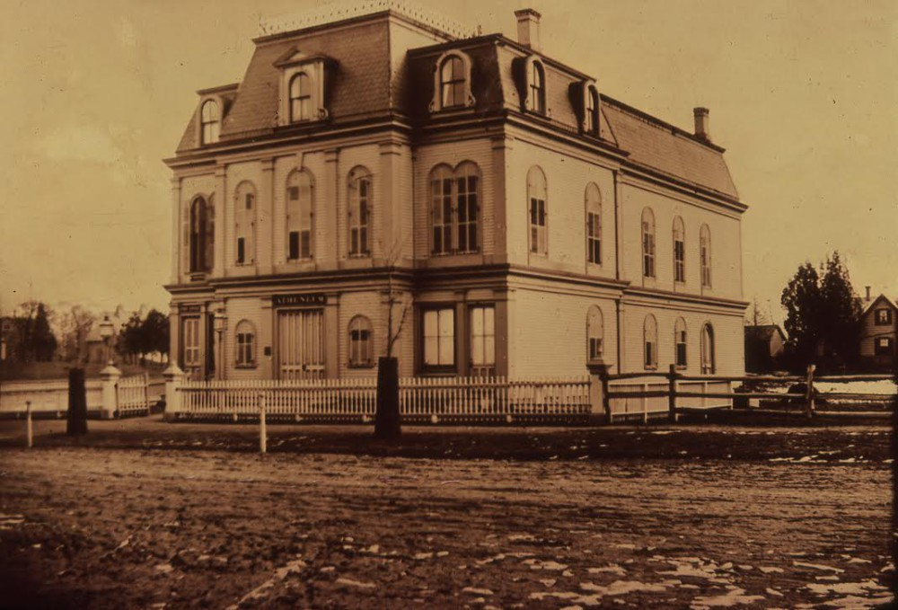 The Bay Ridge Atheneum, on Ridge Boulevard between. Ovington and Bay Ridge avenues, ca. 1880.