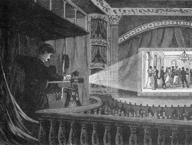 An early movie screening