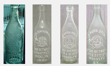 Bottles from the Golden Horn Brewery in Brooklyn