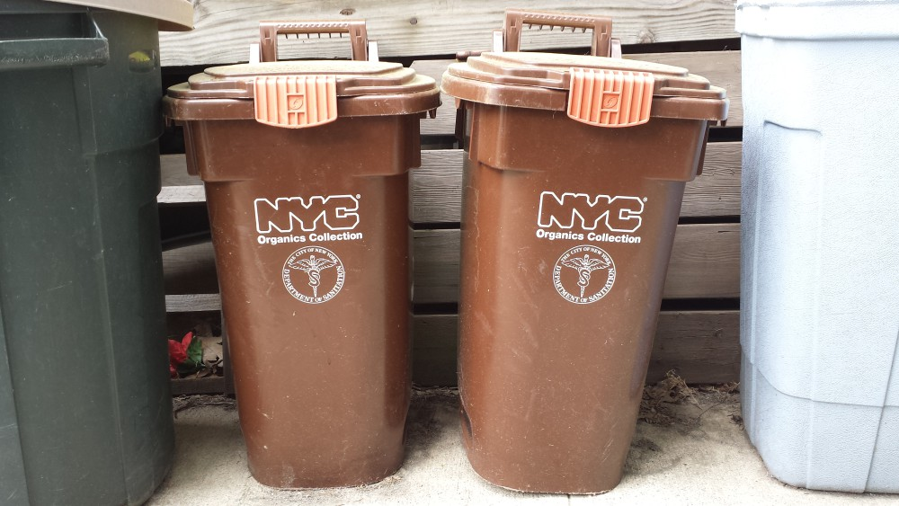 NYC organic recycling bins