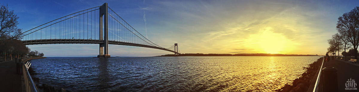 Bay Ridge - I've been living in Bay Ridge for almost my entire live- about 38 years now. I grew up on Shore Road, and spent a lot of time in the park and on the 69th Street Pier. The Verrazano is so easy to photograph, it's iconic and massive- and so close to home! The photograph of the light posts and flag at the pier was taken with an old point and shoot film camera back in 1998 or so, and the image of the Verrazano was from last spring, a panoramic image taken with an iPhone5. It's crazy how far technology in photography has become. But to me, none of that matters- what's important to me in a photograph is that there is some sort of emotion- does it make you FEEL something? Good, bad, nostalgic, angry, it doesn't matter. If it doesn't make you feel anything, its missing the point. It doesn't matter if it's taken on a disposable camera or a $10,000 Canon DSLR. If it doesn't draw an emotion out of you, the photograph isn't effective.