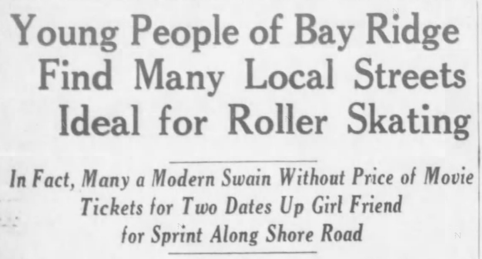 Eagle article about Bay Ridge Roller Skaters