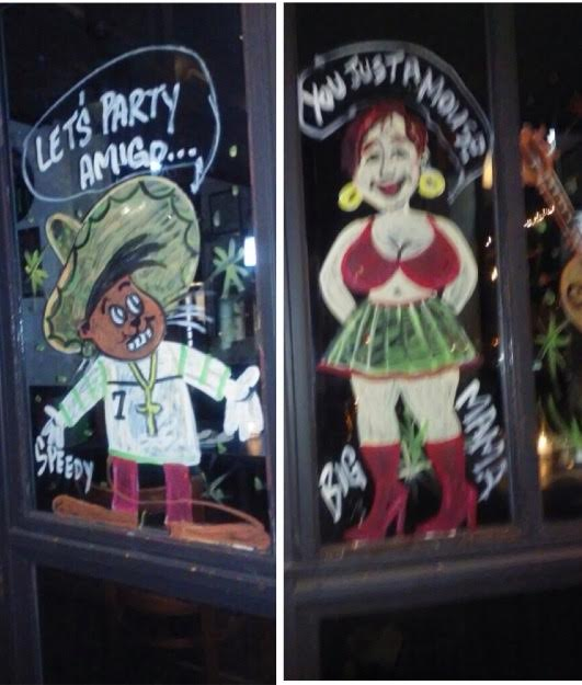 Window painting by Courtney King in Bay Ridge