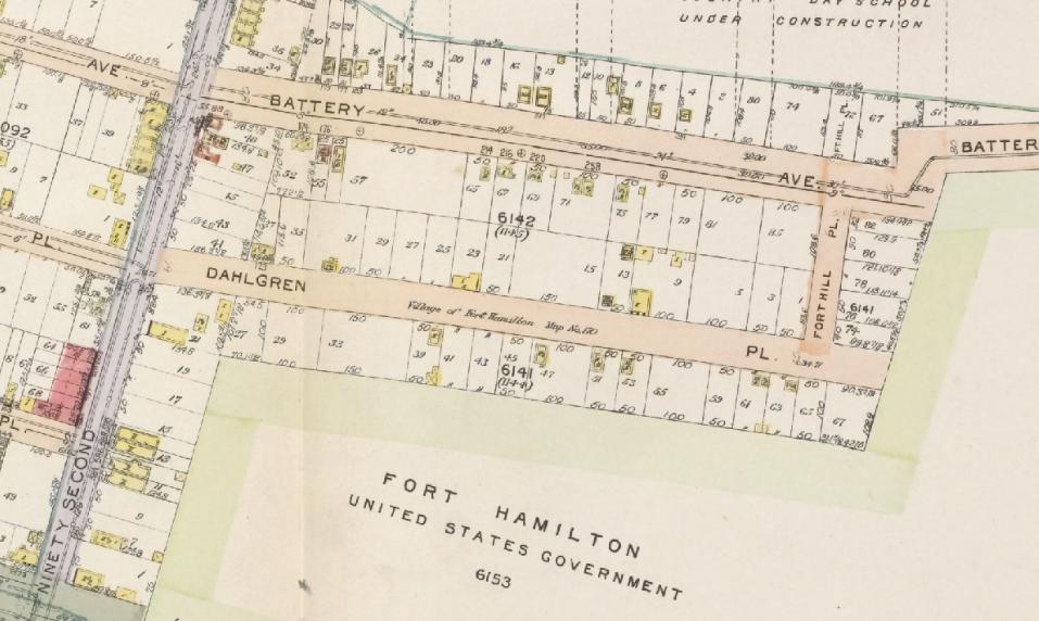 Dahlgren Place Map 1916