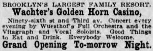 advertisement for Golden Horn