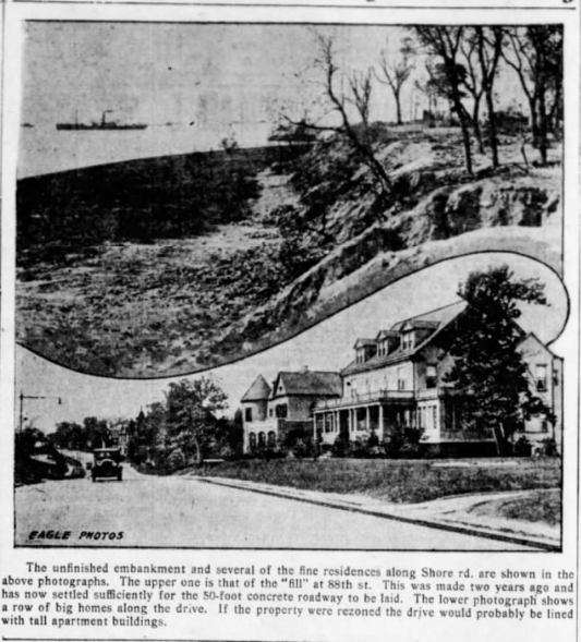 Shore Road in 1927