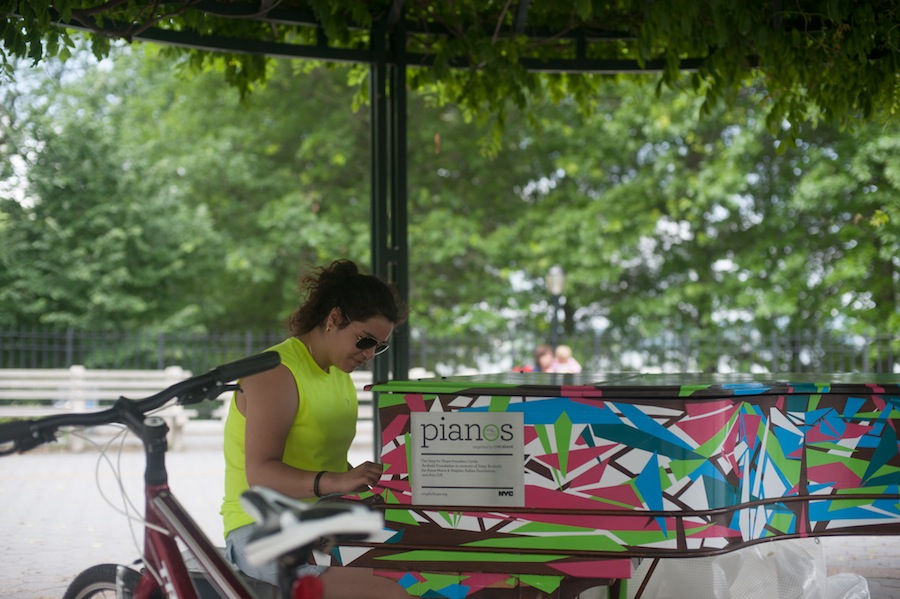 Sing for Hope public piano on Shore Road