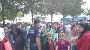 NYPD counter-terrorism police at the Arab American Bazaar. (Photo by Hey Ridge)