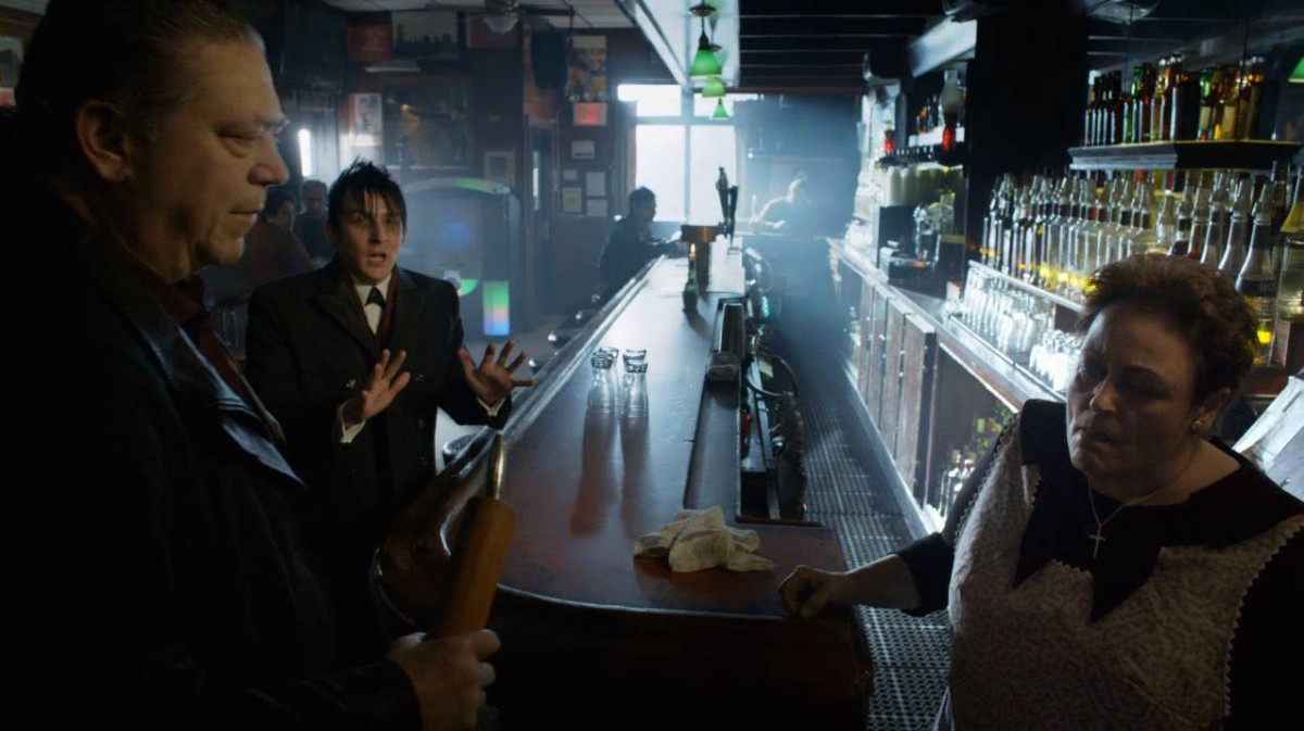 "See? The NY Times forgot, Gotham City's future super-villains also patronize this bar. (Photo from ""Gotham"" on FOX, via Irish Haven Facebook page)"