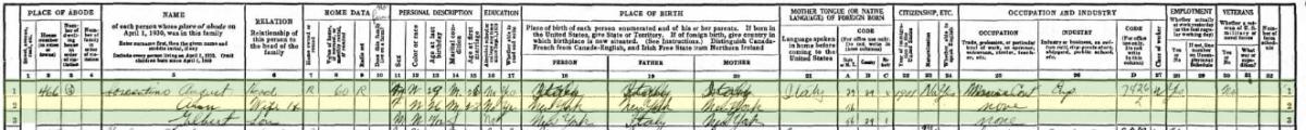 Sorrentino family in the 1930 census