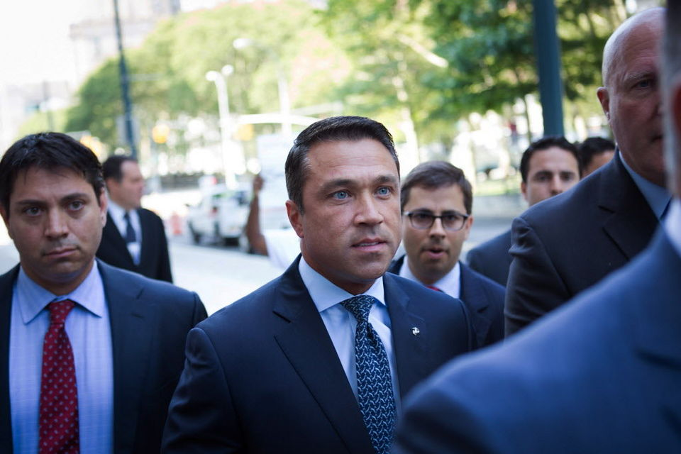Michael Grimm at federal court in Brooklyn