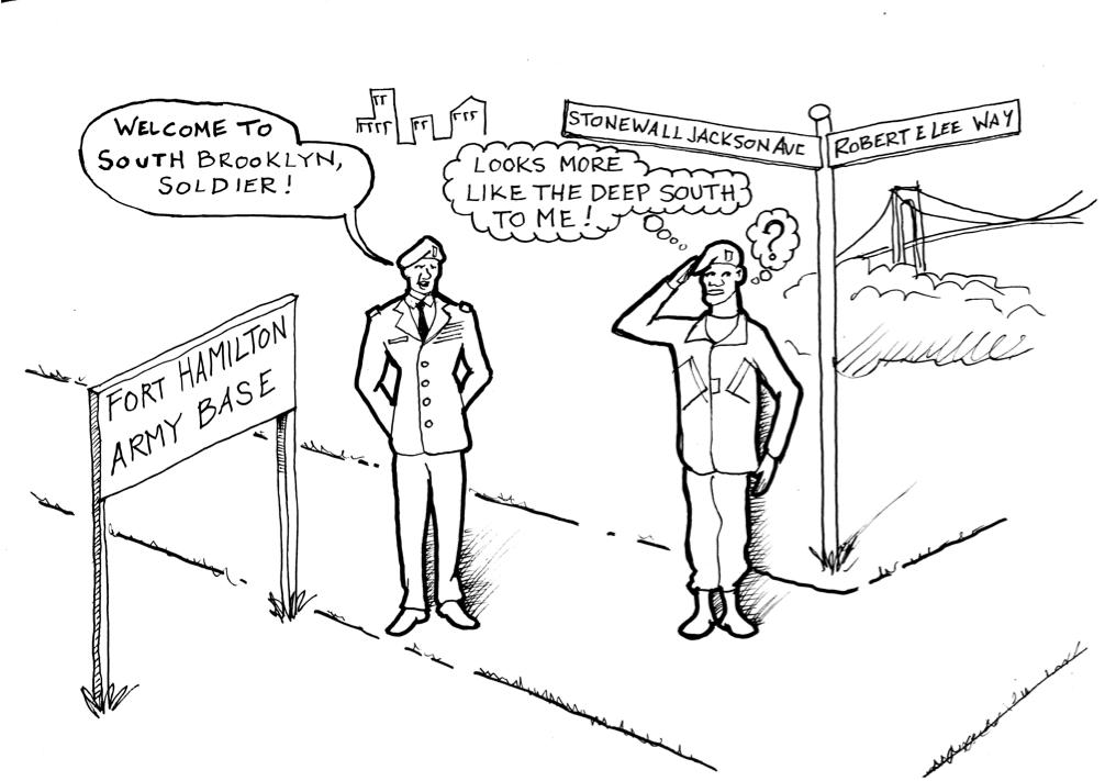 Hey Ridge Political Cartoon: Fort Hamilton Street Names