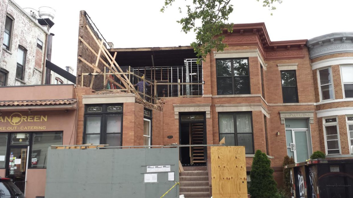 Partial building collapse on 76th Street
