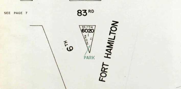 Tom McDonald Triangle on 1964 Tax Map