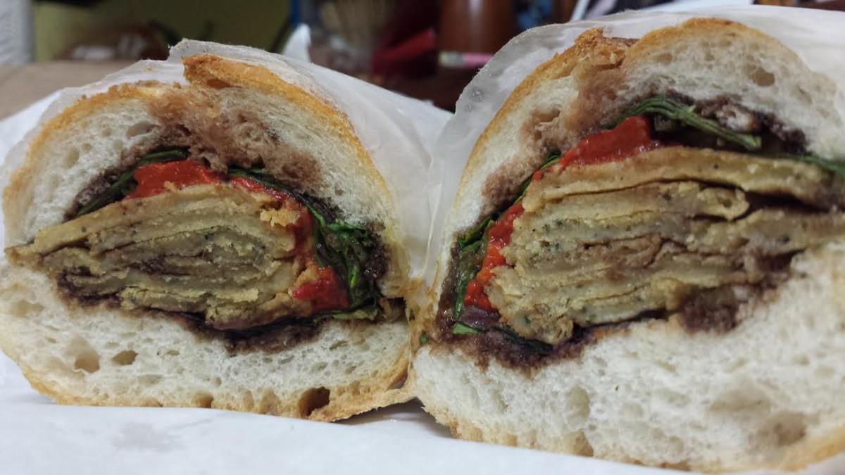 Zito's Panelle Sandwich