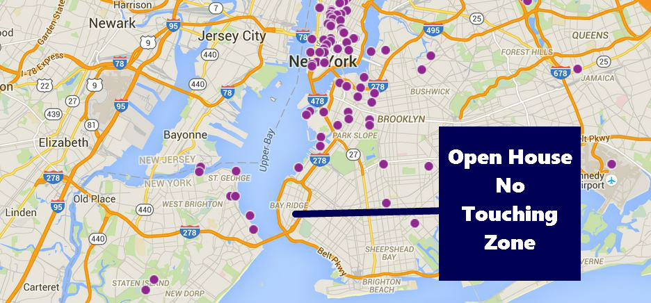 There are a few Open House events in Sunset Park, and a couple just across the bridge in Staten Island, but none in Bay Ridge. (Source: ohny.org)