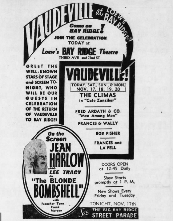 Brooklyn Eagle advertisement