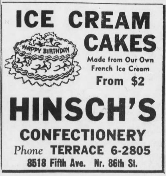 Hinsch's ad