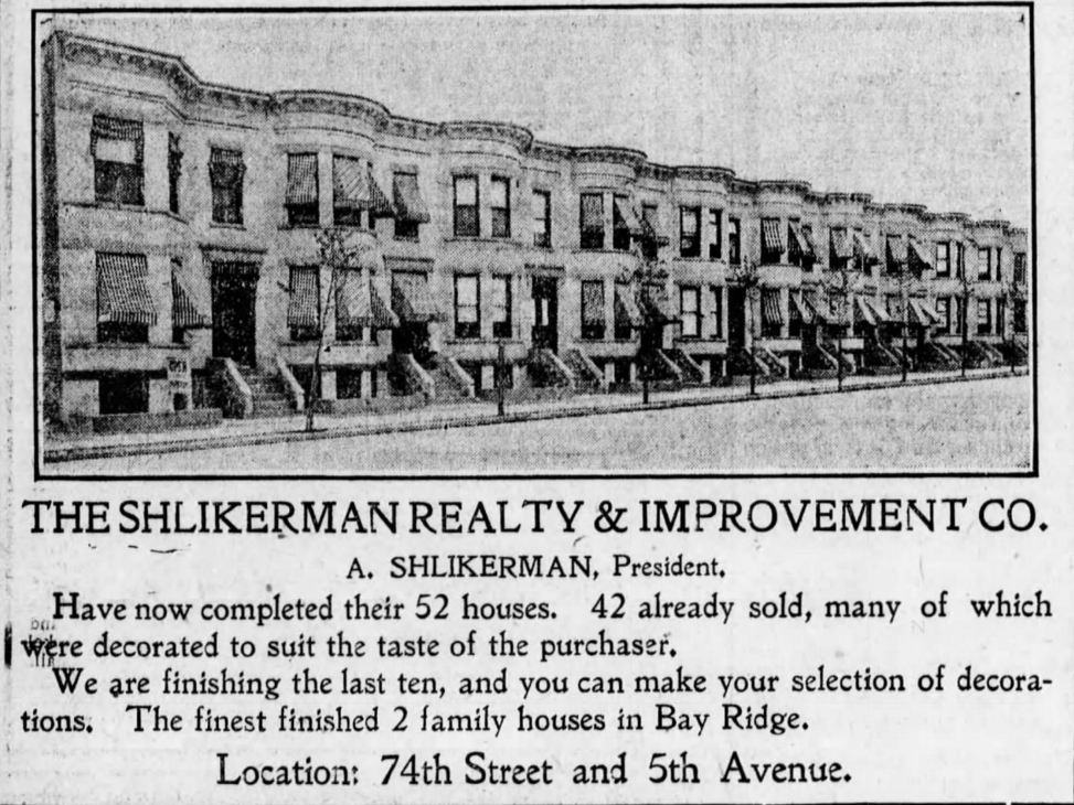Shlikerman Houses on 74th Street