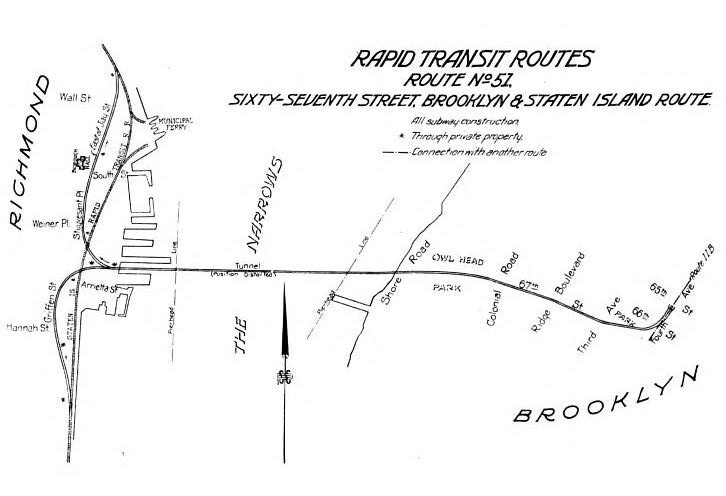 Map of tunnel to Staten Island