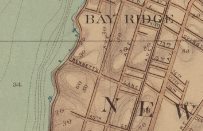 Bay Ridge elevation map