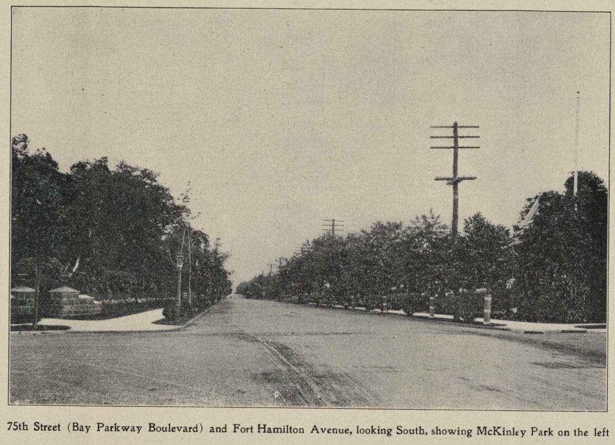 Fort Hamilton Parkway, with McKinley Park