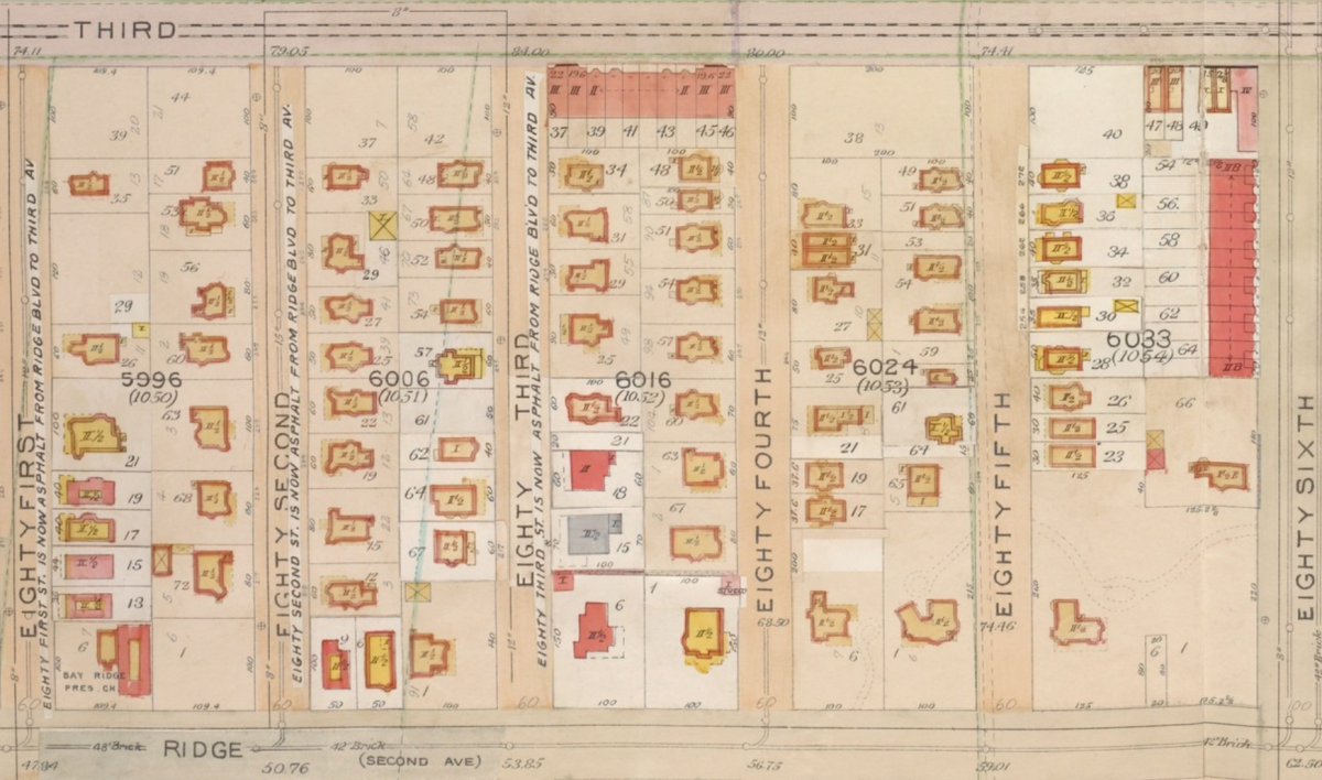 Bay Ridge map 1905