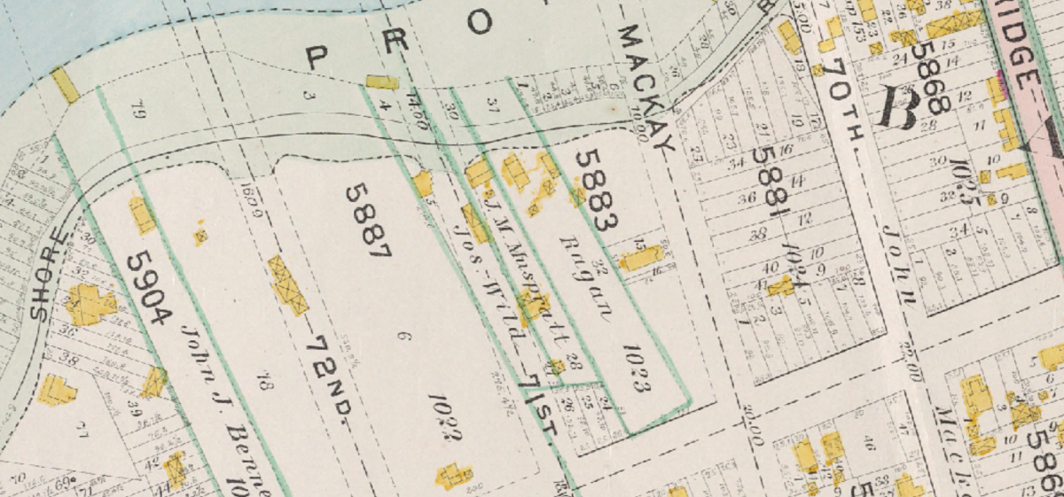 Shore Road 1898 map