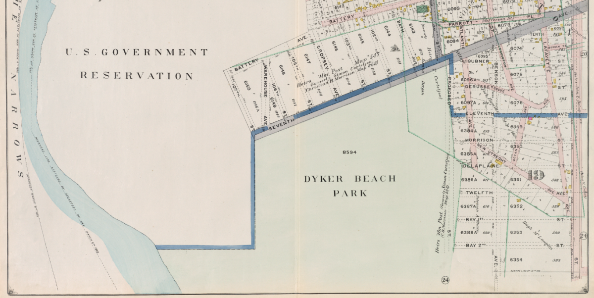 Dyker Beach map