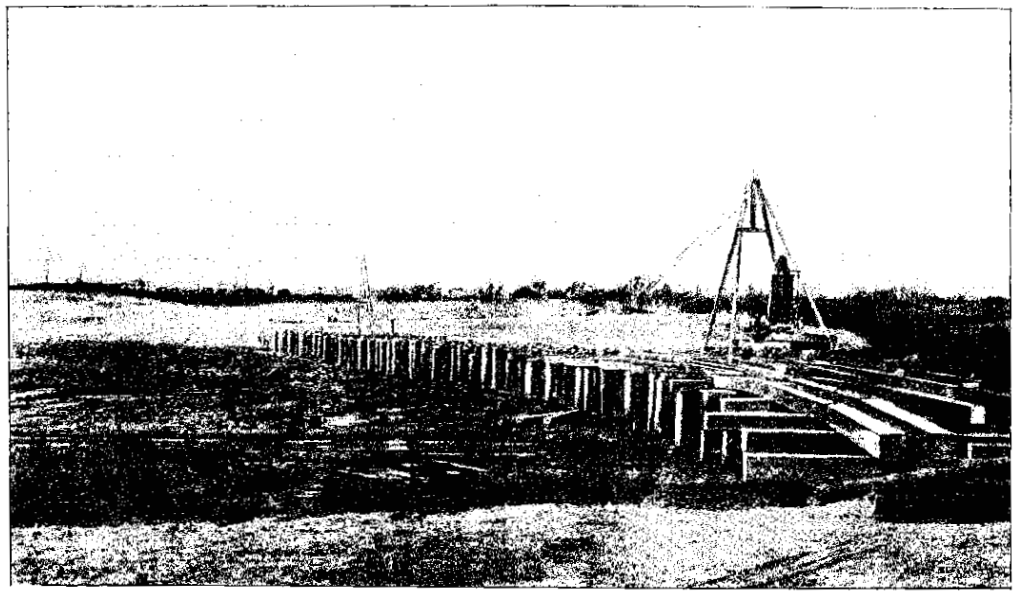 Dyker Beach bridge construction
