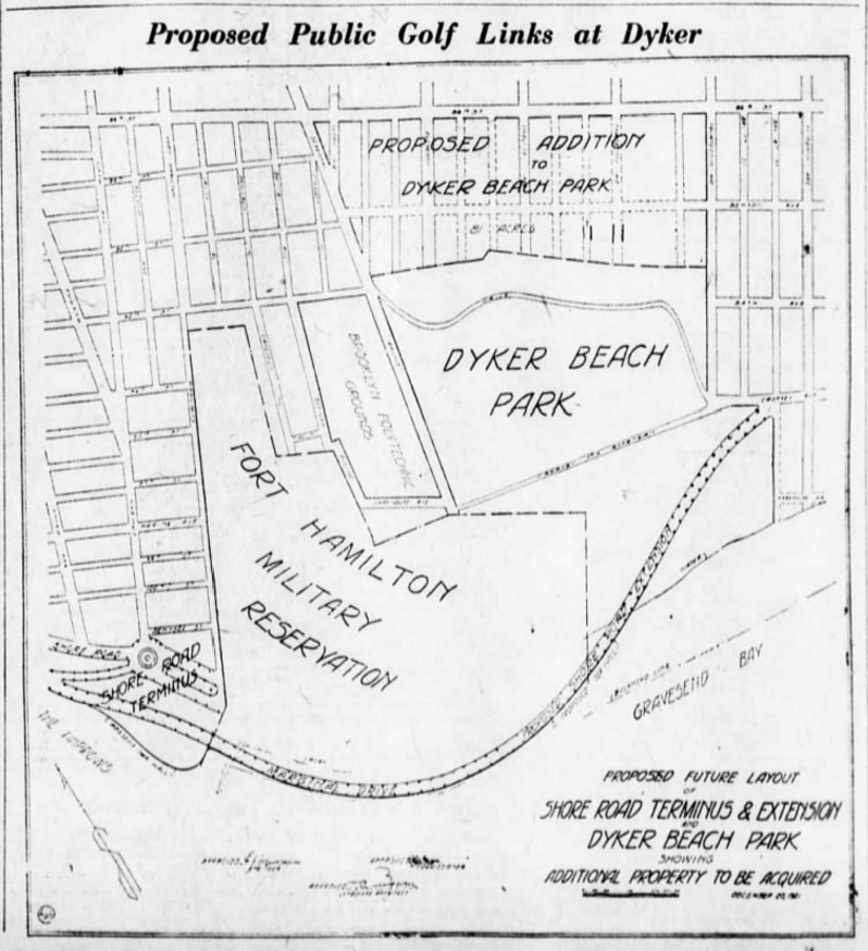Dyker Golf Course original plan