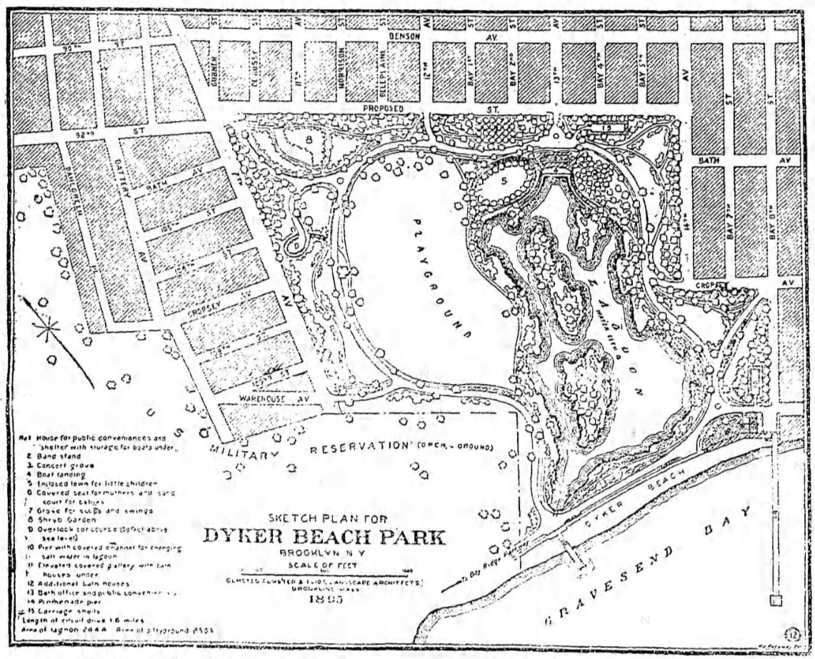 Dyker Beach original plan