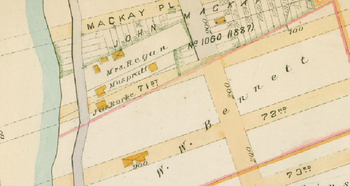 Shore Road Map 1890