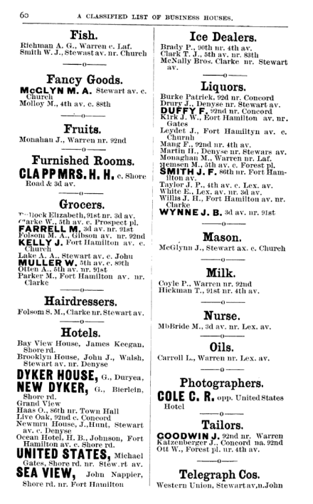 Fort Hamilton Village classifieds
