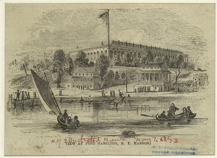 Fort Hamilton from the sea