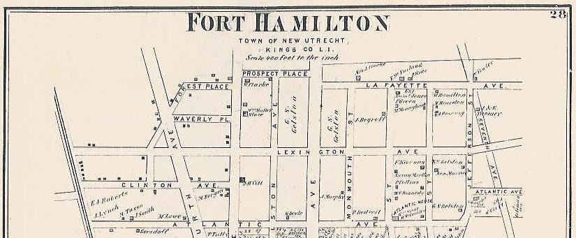 Fort Hamilton map