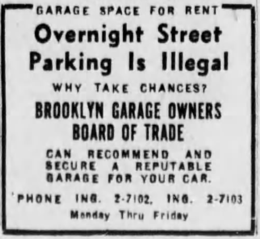 Overnight Street Parking is Illegal