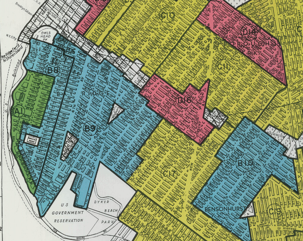 Bay Ridge redlining map