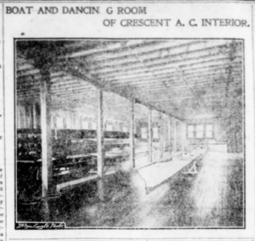 Crescent Club boathouse interior