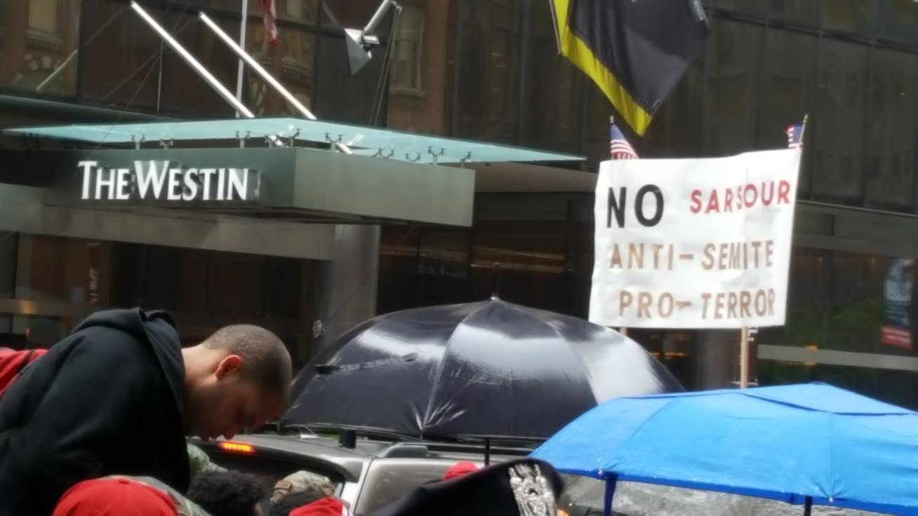 Protest against Linda Sarsour