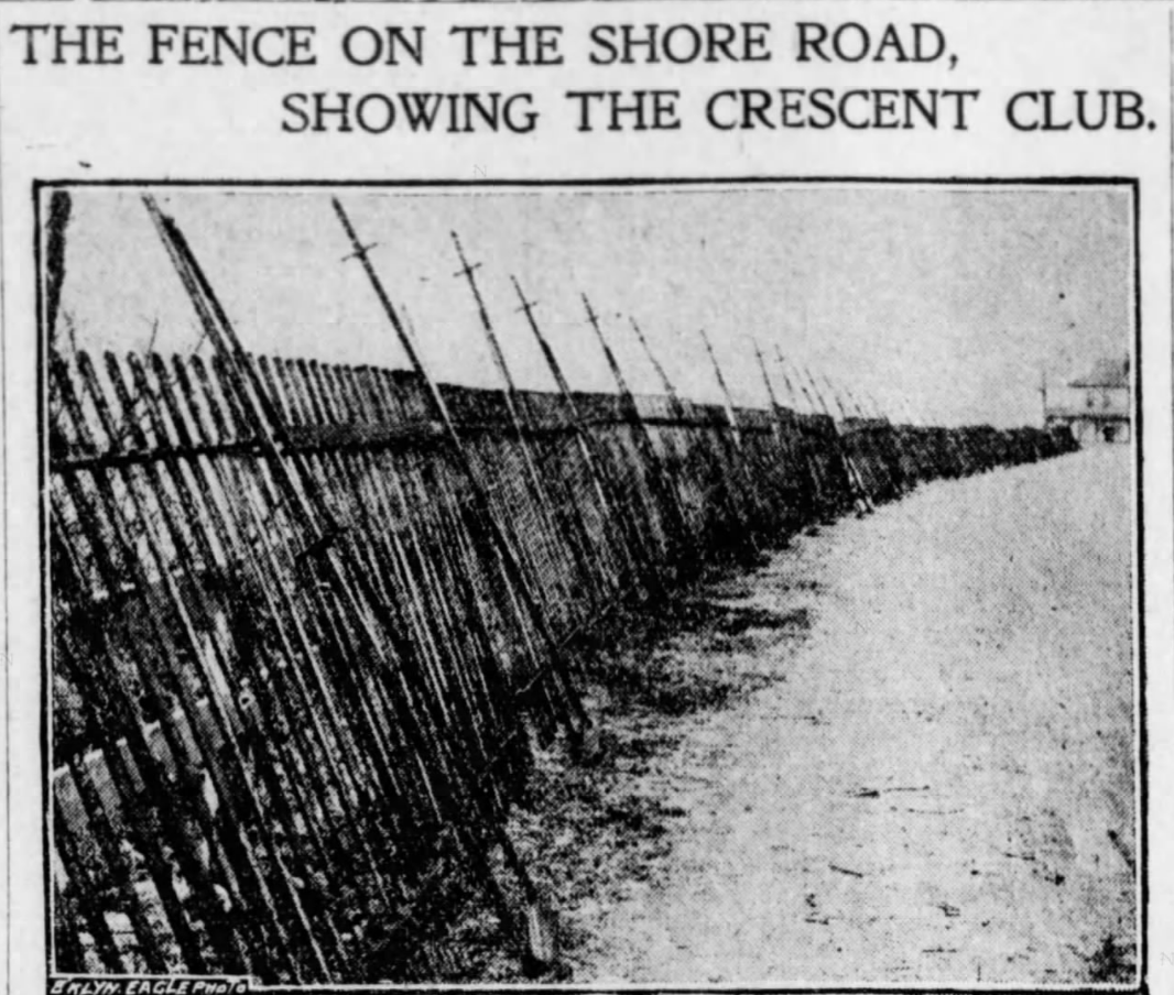 Shore Road fence