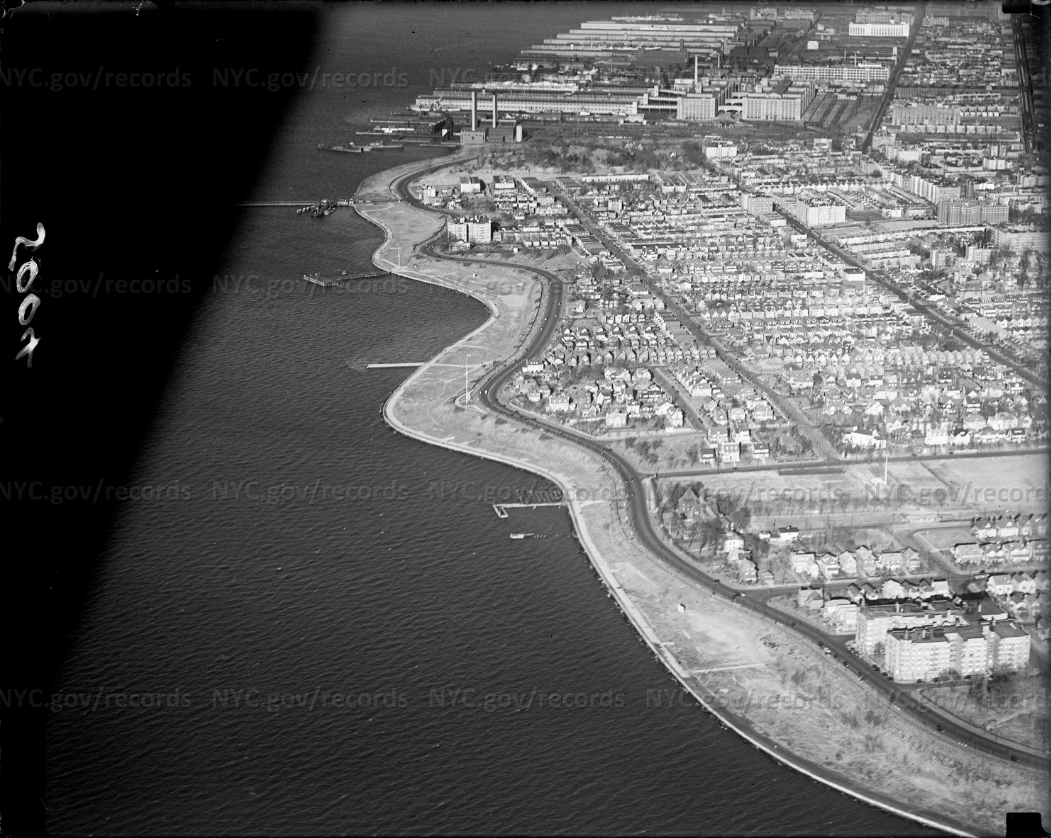 1934 aerial view of Bay Ridge