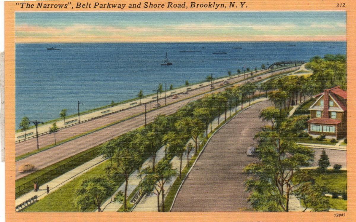 Belt Parkway postcard
