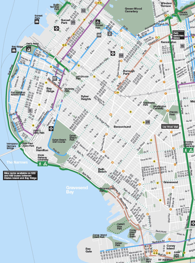 Appendix to Bicyclists Cant Safely Leave Bay Ridge Hey Ridge
