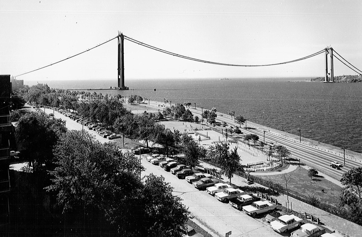 Shore Road during Verrazano construction