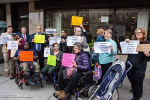 Accessibility protest in Bay Ridge