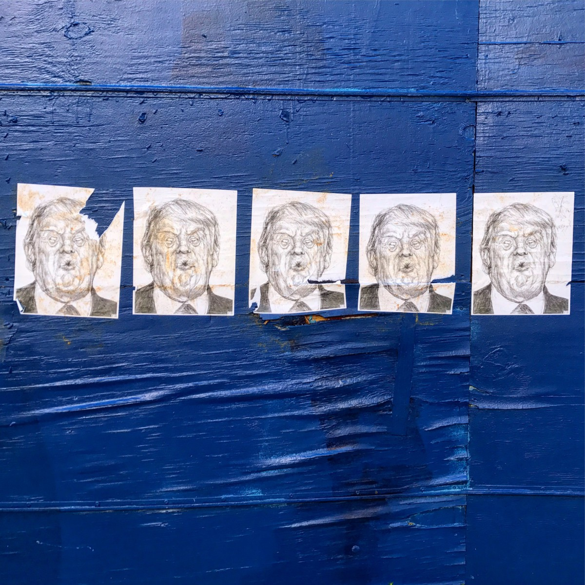 Anti-Trump street art