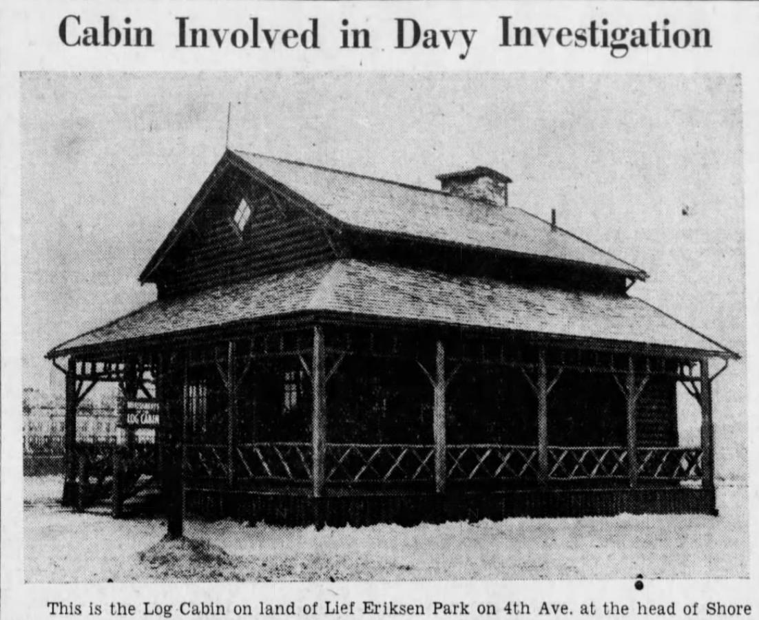 Leif Ericson Park log cabin