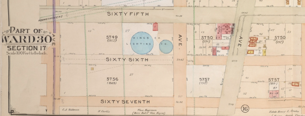 65th Street gas tanks map